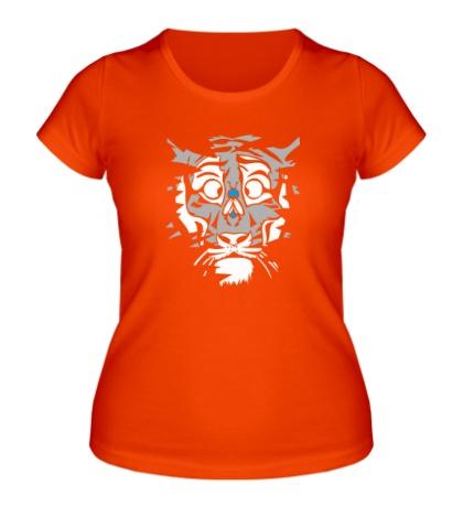 Женская футболка Тигр и муха