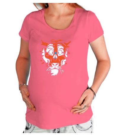 Футболка для беременной Тигр и муха