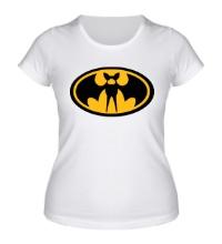 Женская футболка Знак летучий мыши