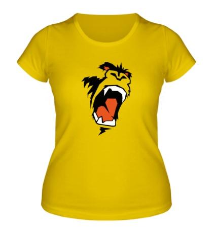 Женская футболка Злая горилла