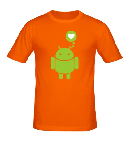 Мужская футболка Андройд влюблен