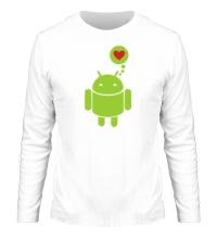 Мужской лонгслив Андройд влюблен