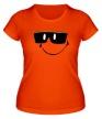 Женская футболка «Смайл в очках» - Фото 1