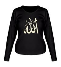 Женский лонгслив Аллах, свет