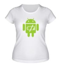 Женская футболка Android Battery