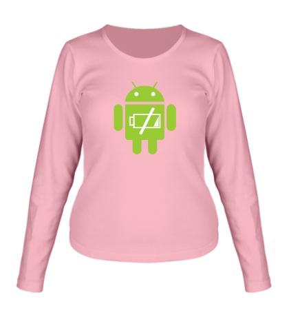 Женский лонгслив Android Battery