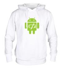 Толстовка с капюшоном Android Battery