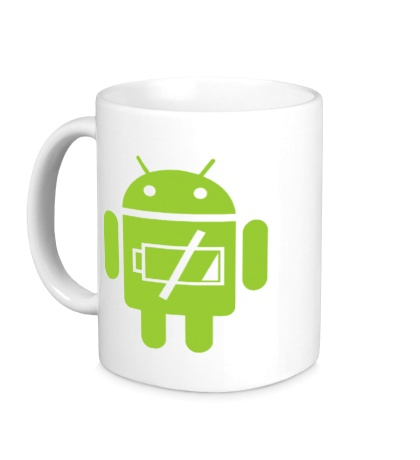 Керамическая кружка «Android Battery»