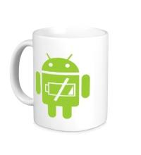 Керамическая кружка Android Battery