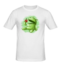 Мужская футболка Android Eats Apple