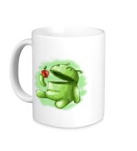 Керамическая кружка Android Eats Apple