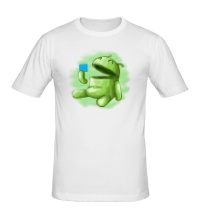 Мужская футболка Android Eats Windows