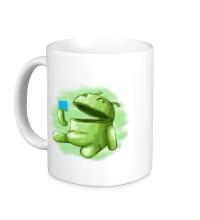 Керамическая кружка Android Eats Windows