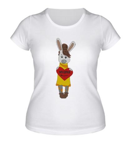 Женская футболка «Зайка: my love»