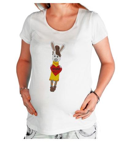 Футболка для беременной «Зайка: my love»
