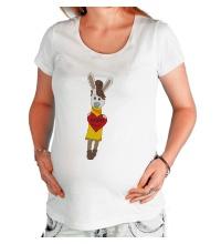 Футболка для беременной Зайка: my love