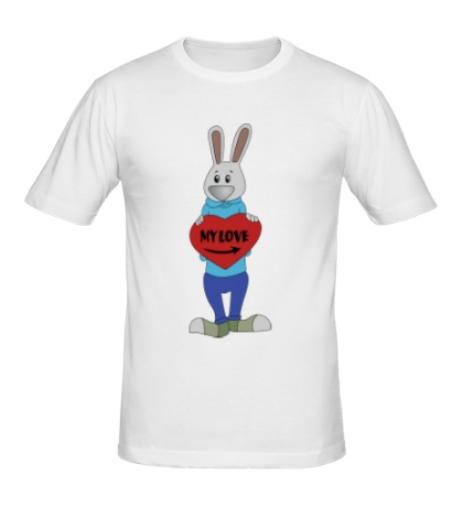 Мужская футболка «Заяц: my love»