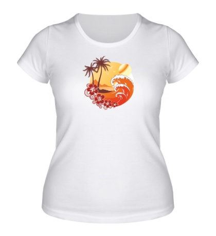 Женская футболка Море и острова