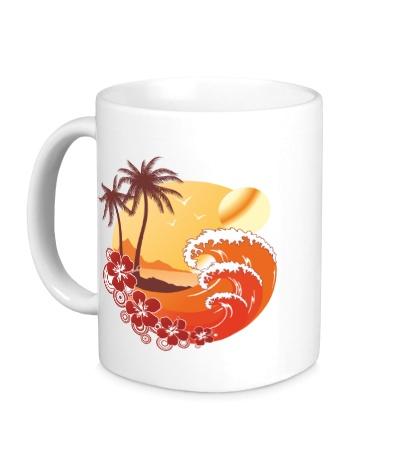 Керамическая кружка Море и острова