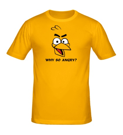 Мужская футболка Why so angry?