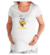 Футболка для беременной Why so angry?