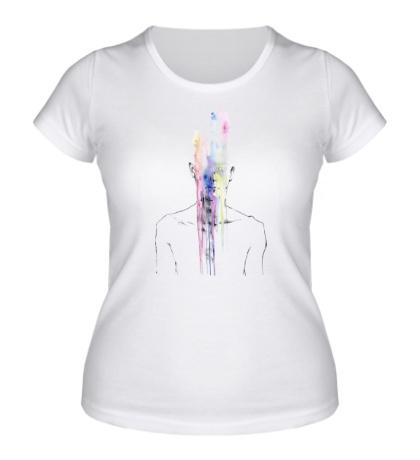 Женская футболка Человек без лица