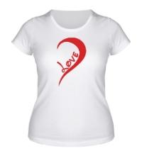 Женская футболка One love парная