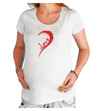 Футболка для беременной One love парная