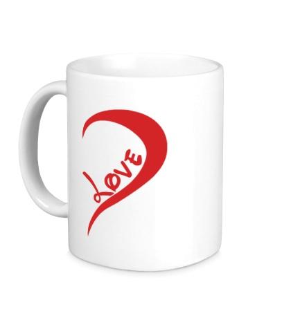 Керамическая кружка One love парная