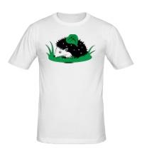 Мужская футболка Ёжик