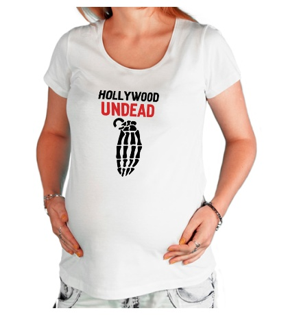 Футболка для беременной Hollywood undead