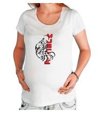 Футболка для беременной Бодибилдер с гантелями