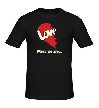 Мужская футболка «Love is парная»