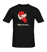 Мужская футболка Love is парная