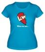 Женская футболка «Love is парная» - Фото 1