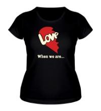 Женская футболка Love is парная