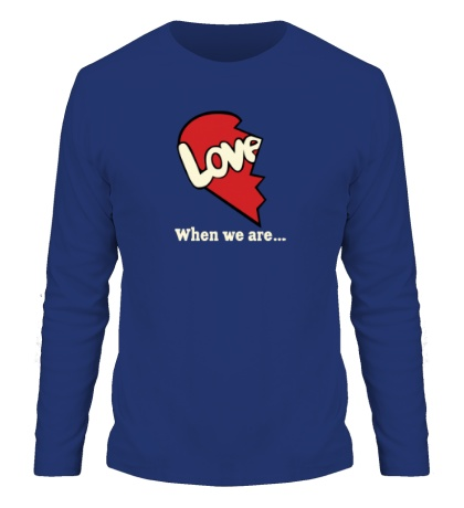 Мужской лонгслив «Love is парная»