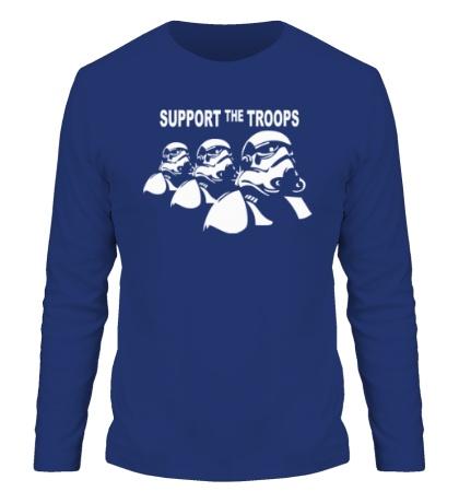 Мужской лонгслив «Support the troops»