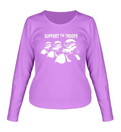 Женский лонгслив Support the troops