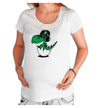 Футболка для беременной Дракоша в наушниках