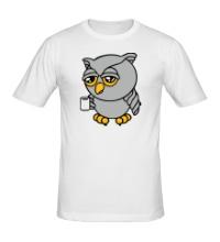 Мужская футболка Сонный совенок