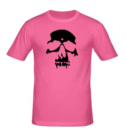 Мужская футболка «Силуэт черепа»
