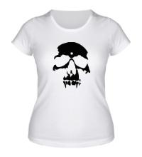 Женская футболка Силуэт черепа