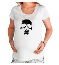 Футболка для беременной Силуэт черепа