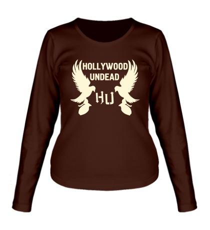 Женский лонгслив Hollywood Undead Birds Glow