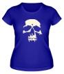 Женская футболка «Силуэт черепа, свет» - Фото 1