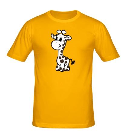 Мужская футболка Маленький жираф