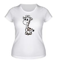 Женская футболка Маленький жираф