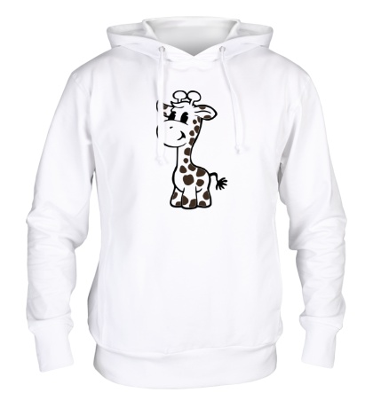 Толстовка с капюшоном Маленький жираф