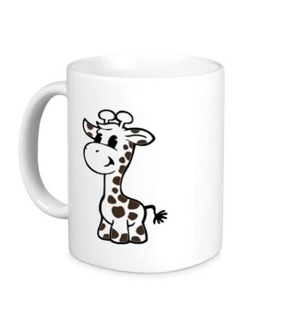 Керамическая кружка Маленький жираф
